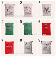 Wholesale Spider Backpack - 15 Design Christmas Halloween Santa Canvas bags DHL Drawstring Bag With Pumpkin Reindeers devil spider Gifts Sack Bags B001