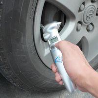 Wholesale Digital Multi Gauge - Wholesale-Silver Color Multi-Functional LCD Digital Car Auto Tire Tyre Air Pressure Gauge Tester