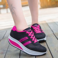 Wholesale Swing Sport Shoes Casual - Height Increasing 2016 Summer Shoes Women's Casual Shoes Sport Fashion Walking Shoes for Women Swing Wedges Shoes Breathable