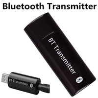Wholesale Transmitter Iphone Tv - New 3.5mm Wireless USB Bluetooth Audio Transmitter Music Stereo Adapter for iPhone 6s Samsung Computer TV Tablet Speaker