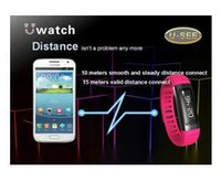 Wholesale Cheap Mobile Watch Phones - New Cheap U9 Bluetooth Smart Watch U See UWatch Men Women Sports Watch Wrist For Samsung Galaxy S5 Android Mobile Phone Pedometer DHL