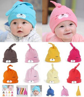 Sweet Baby Girls Boys Cartoon Toddlers Хлопок Sleep Cap Headwear Hat 9 цветов