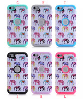 Wholesale Touch Wood - For Apple Ipod Touch 5 6 Touch6 Armor Case Hard PC Silicone Gel Hybrid 3 in 1 Flower Wood Wave Elephant Impact Heavy Duty Combo skin Luxury