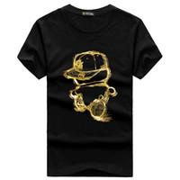 Wholesale Plus Size Brown Tee Shirt - Wholesale-Mens Fashion t shirt Men 2016 Men's t shirts Short Sleeve Hip Hop t shirt Men's Tops Tees Summer Cotton Plus Size S-5XL