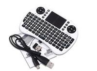 tablet pc de mano al por mayor-Rii i8 Teclado Air Mouse Control remoto Touchpad Dispositivo portátil para TV BOX PC Laptop Tablet Raspberry Controlador PI con batería de litio