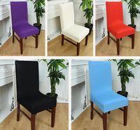 ingrosso copertine calde della sedia di nuziale-Coprisedie elastiche della sedia di Covers della sedia da pranzo calda di colori per la copertura di Deco della casa della festa nuziale