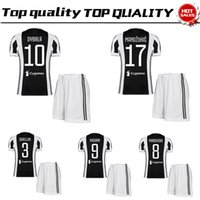 Wholesale New Men S Red Suit - New Home red black Soccer Jersey suit 17 18 soccer shirt kit 2018 #10 DYBALA #9 HIGUAIN Football uniforms jersey+shorts SALES