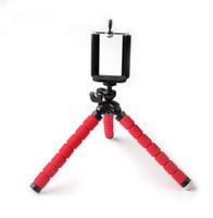 Wholesale Tripod Flexible Legs - Car Phone Holder Flexible Leg Octopus Tripod Bracket Selfie Stand Mount Monopod Styling Accessories Mild Steel Shelf Bracket Car Holder