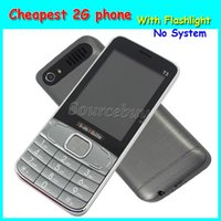 Wholesale Screen Quad Band Dual Sim - Cheapest 2.8 inch 2G Unlocked Quad Band H-mobile T3 Mobile phone No System Back Camera Cell Phone with Flashlight Bluetooth Free Shipping