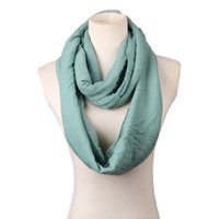 Wholesale Cheap Yellow Scarves - Wholesale-20 Colors Fashion Solid Cotton Scarves Light weight Circle Loop Women Infinity Scarf Plain Snood For Ladies Shawl Cheap Scarfs