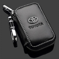 Wholesale toyota corolla accessories online - high quality For Toyota RAV4 Camry Highlander Corolla Prado Yaris leather car key case key cover accessories