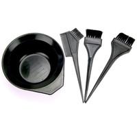 Wholesale Tint Brush Free Shipping - Coloring Tools Hairdressing Brushes Bowl Combo Salon Hair Color Dye Tint DIY Tool Set Kit 4PCS Free Shipping