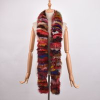 Wholesale Real Fox Scarf - New Arrival Women Winter Scarves Multicolor Real Fox Fur Long Scarf New Style Natural Fox Fur Wraps Winter