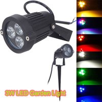 ingrosso luci spot spot-3W AC85-265V 12V LED Garden Spike light LED Prato Light per Path Landscape Spot Light Sicurezza 2 pezzi