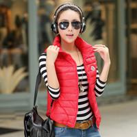 Wholesale Cheap Down Jacket Women - New Famous Brand Fashion Cheap Women Down Jacket Coat Vest Winter Outwear Cotton-padded Jacket Women Slim Solid Zipper Outerwear