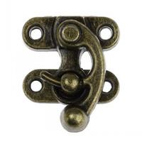 Wholesale Antique Hook Latch - Dorabeads Metal Hook Box Latches Clasp For Box Lock Purse Lock Antique Bronze 4 Holes 3.5cm x 2.9cm 2.9cm x 1cm,10Sets