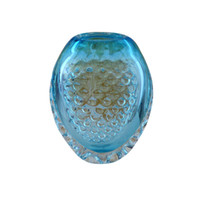 Wholesale Glass Vase Black - Wedding Decor Blue Vase Ornaments Romantic Murano Glass Vase High Quality Handicraft Ornaments for Home Decor