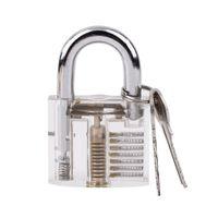Wholesale Door Trainer - New Transparent Practice Padlocks Cutaway Inside View Locksmith Tools Door Lock Pck Lock Smith Tools Trainer Skill w  2 keys