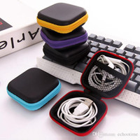 Wholesale Multi Storage Hand Bag - 2017 Hot Square Case Protect For Hand Spinner Earphone Storage Box Multi Function Bag Keys Lines Container Fidget Spinners Cases Fashion