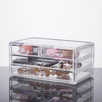 Wholesale 2016 New Clear Makeup Case Organiser Acrylic Drawer Storage Jewelry Cosmetic Display Box YOUR BEST CHOICE