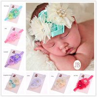 Headbands other other Wholesale 30pcs Newborn Baby Photo Prop Cheap Headband Hair Bows Baby Hair Accessories Christening Headbands shabby flower headband