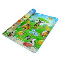 Wholesale Play Dinosaurs - Wholesale- Double Side Waterproof Baby Toddler Soft Crawling Mat Picnic Blanket Play Mat-Dinosaur + car