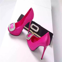 Wholesale Banana Leather - Top custom woterproof dress shoes real silk vamp with diamond heel high 10cm Banana follow and 12cm heel ladies and stars best choose
