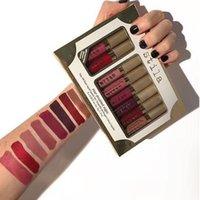 Wholesale Lip Stay - Stila Star-Studded Eight Stay All Day Liquid Lipstick Set With 8 Colors 2017 New Makeup Stila Liquid Lip Kit Free DHL