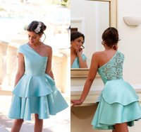 Wholesale Coral Grade - 2016 Mini Short Cocktail Dresses for Summer 8th Grade Dance Girls Back to School Sweet Sixteen Graduation Teens Ball Prom Gowns BA2957