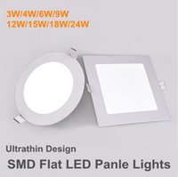Round Square spie del pannello SMD 12W 9W 6W 4W 3W intelligente IC driver incasso a LED Downlights Slim embedded luci di soffitto SMD2835 LED