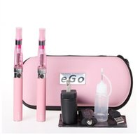 Wholesale Ego Double Stems - eGo eGo-CE4 Starter Dual Stem Kit E-Cigarette CE4 Atomizer 650mAh 900mAh 1100mAh eGo-T Battery Electronic Cigarette with Zipper Case Package