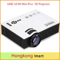 2016 mais novo Original UNIC UC40 Mini Pico Projector portátil 3D HDMI Home Theater projetor projetor multimídia de vídeo Full HD 1080p