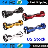 Wholesale Usa Wheels Self - Stock in USA Two Wheel Smart Self Balancing Scooters Electric Unicycle Scooter Hover Board Balance 6.5'' Mini Multicolor Free Shipping