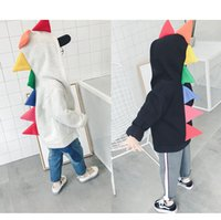 Wholesale Dinosaur Hoodie Coat Boys - Ins Kids Dinosaur Hoodies Colorful Autumn Winter Children's Boys Girls Unisex Baby Coats Outdoor Sport Jackets Outfits 0-5T