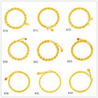 Wholesale Fishing Mix - Fish Personalized Heart hollow yellow gold bracelet 8 pieces mixed style GTKB3 ,Brand new high grade fashion women's 24k gold bracelet