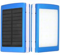 logo portable battery charger achat en gros de-Logo adapté aux besoins du client Portable Solar Power Bank 30000MAH Double USB LED externe Mobile Téléphone Chargeur Batterie de secours solaire Powerbank 100 PCS