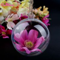 Wholesale Wholesale Plastic Favors - 10Pcs 50mm Acrylic Transparent Ball for New Year Christmas Decorations Plastic Candy Box for Wedding Gift Party Favors Wholesale <$16 no tra
