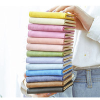 Wholesale Hot Sale High quality leather cute Colorful Macarons color Small foldable Women wallet cheap card coins Holder