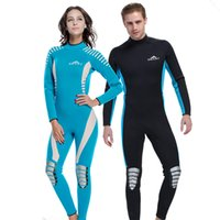 Wholesale Full Diving Suit - One Piece Wetsuits Men Women Neoprene 3MM Surfing Scuba Diving Suit Spearfishing Swimming Wetsuits Men Women Full Body Swimsuit