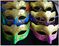 Bauta Mask sparkle promotions - Express Shipping Promotion Selling Party Mask With Gold Glitter Mask Venetian Unisex Sparkle Masquerade Venetian Mask Mardi Gras Costume