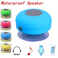 Wholesale Android Speaker Docking - Portable Mini Shower Waterproof Wireless Bluetooth Speaker Handsfree Car MIC Music Suction-Cup Speakers for iPhone 6 7 Tablet Galaxy Android