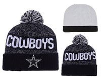 Wholesale 2016 New Arrival Dallas Pom Sport Knit Beanie Hats Sport Beanies For Men Women Knit Hat Skullies Warm Winter Hats Pom Beanies