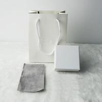 halsketten papier box großhandel-AGOOD 12sets / lot modemarke schmuck paket für ohrringe halskette papier weiß handtaschen geschenkbox display