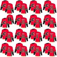 Wholesale Flame Numbers - Mens 68 Jaromir Jagr 13 Johnny Gaudreau 24 Travis Hamonic Calgary Flames Jersey Custom Any Name Any Number Hockey Jerseys Stitched