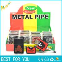 Wholesale Hidden Lighter - Discreet hidden smoking pipe metal small cotton machine lighter shape smoking pipe