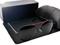 polarisierte sonnenbrille für männer verkauf großhandel-2017 heißer verkauf neue stil designer gläser polarisierte fahren sonnenbrille markendesign sonnenbrille männer gläser sind männlich mit freiem fall