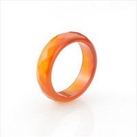 Wholesale High Quality Jade Jewelry - 100% Natural jade ring faceted black red agate rings High quality Jewelry rings for women and men