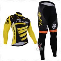 Wholesale Breaks Pads - 2016 autumn thin long breathable Break Wind Men's Long Cycling Bib Suit maillot bike Long sleeve + Bib Pants with pad bicycle wear
