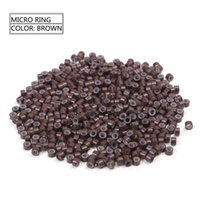 Wholesale Tool Kit For Micro Beads - Neitsi (50pcs lot+1 hook needle) Micro Ring Copper Nano Micro Ring Link Beads for Hair Extensions Tools Kit Blonde# Color Hair Accessories