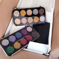 2017 Glitter Eyeshadow Cosmetics 10 Ultra Pigmented Glitter Shadow Palette 2 forme DHL gratuito Glitter Eyes Makeup